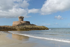 La Rocco Tower At St Ouens Bay, Jersey Stock Image