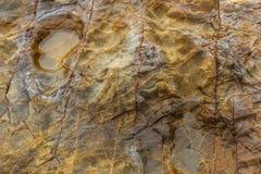 La roche à la plage de mer Image libre de droits