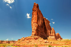 La roche au parc national de voûtes en Utah, Etats-Unis Photographie stock libre de droits