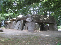 Neolithic Dolmen, Brittany. La Roche aux Fee (Fairy Rocks) is a spectacular Dolmen found near Esse in Brittany, France. It consists of more than 40 stones, which Royalty Free Stock Photography