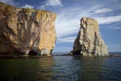 La roche chez Percé Photographie stock libre de droits