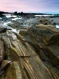 La roche comporte l'aube Photographie stock