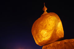 La roche d'or Photo libre de droits