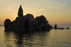 La roche de Bismarck dans Mwanza Image stock