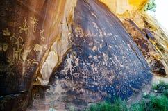 La roche de journal, Utah, Etats-Unis image stock