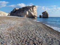 La roche de l'Aphrodite, Chypre Images stock