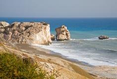 La roche de l'Aphrodite, Chypre Image libre de droits