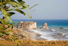 La roche de l'Aphrodite, Chypre Images libres de droits