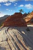 La roche du grès rouge Photo stock