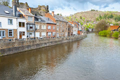 La Roche. Embankment of the River Ourthe in the Belgian City of La Roche Royalty Free Stock Photos