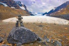La roche empile Jasper National Park photo libre de droits
