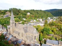 La Roche-en-Ardenne skyline Royalty Free Stock Photo