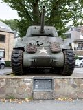La Roche en Ardennes - SEPTEMBER 20: US M4a1 Sherman tank displayed in the honor of the soldiers of 2nd, 3rd US Armored divisions Stock Image