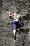 la roche s'élevante de noeuds ropes deux Image libre de droits