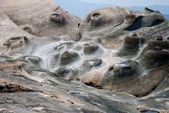 La roche Yehliu Geopark de forme de bougies Photos libres de droits