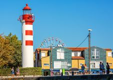 A picturesque view of the Feu Anterieur lighthouse. royalty free stock photos
