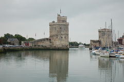 La Rochelle, France. La Rochelle is a city in southwestern France and a seaport on the Bay of Biscay, a part of the Atlantic Ocean. It is the capital of the Stock Photo