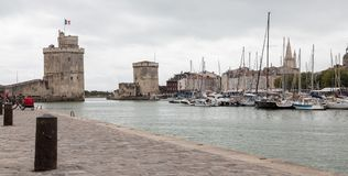 La Rochelle, France panorama. Panoramic view of the arbor of La Rochelle city in France Royalty Free Stock Photo
