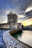 La Rochelle Harbor Medieval Fortification en Francia Foto de archivo