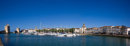 La Rochelle harbor panorama Stock Photos