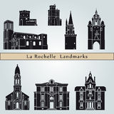 La Rochelle landmarks and monuments Royalty Free Stock Photo
