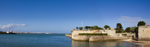 La Rochelle - panorama. A panorama of the old harbour of La Rochelle in France. This charming city it is a perfect location for those who love the ocean, history Stock Photos