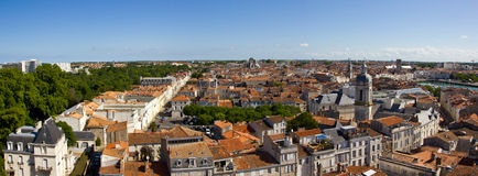 La Rochelle -  town Panorama. The panorama of the charming old medieval town of the La Rochelle, on the Western french Coast Stock Photography