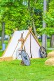 la roman spain för festival för carisa för carabanzo för asturasturias läger arkivbilder