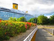 La Romana, Dominican Republic - February 04, 2013: Costa Luminosa cruise ship Royalty Free Stock Photography