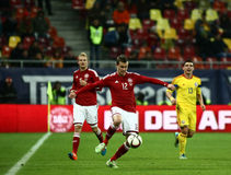 La Romania contro la Danimarca Fotografia Stock