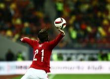 La Romania contro la Danimarca Immagini Stock