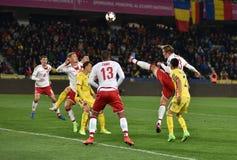 La Romania contro la partita dei qualificatori della coppa del Mondo della Danimarca la FIFA Fotografie Stock