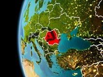 La Romania da spazio nella sera Immagini Stock Libere da Diritti