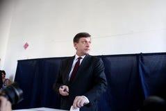 La Romania - Presidente Referendum Fotografia Stock