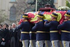La Romania - re Mchael I - Funerral reale fotografia stock libera da diritti
