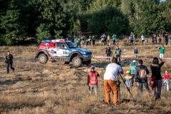 La ronda de Baja Polonia ocho de la loteria de FIA World Cup de este año para el campo a través se reúne Foto de archivo