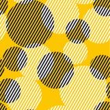 La ronda dinámica geométrica abstracta puntea el modelo inconsútil Fotografía de archivo