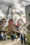 La Ronde游乐园乘驾 库存图片