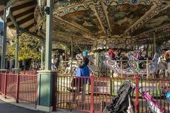 La Ronde游乐园转盘 免版税库存图片