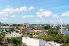 La Ronde游乐园,蒙特利尔 免版税库存图片