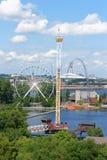 La Ronde游乐园,蒙特利尔 免版税库存照片