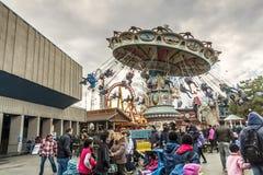La Ronde Amusement park carousel Stock Photo
