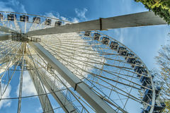 La Ronde Ferris whell. La Ronde is an amusement park in Montreal, Quebec, Canada, owned and operated by Six Flags. The park is under an emphyteutic lease with Stock Photos