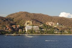 La Ropa Beach. In a sunset light in Mexican resort town Zihuatanejo Stock Photography