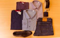 La ropa clásica de los hombres Foto de archivo libre de regalías