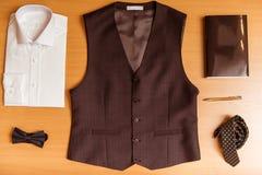 La ropa clásica de los hombres Imágenes de archivo libres de regalías
