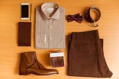 La ropa clásica de los hombres Fotos de archivo libres de regalías