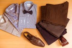 La ropa clásica de los hombres Imagen de archivo libre de regalías