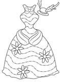 La ropa de la señora que colorea la página Foto de archivo libre de regalías