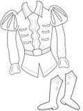 La ropa del príncipe que colorea la página Imagen de archivo libre de regalías